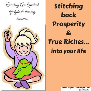 Stitching Back Prosperity And Riches: Spiritual Teachings
